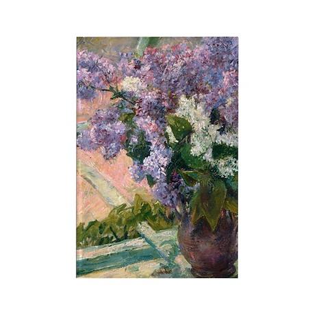 Cassatt - Lilacs Rectangle Magnet