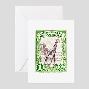 Mozambique Giraffe 1937 African Postage Stamp Gree