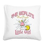 WorldsAngelicLittlegirl Square Canvas Pillow