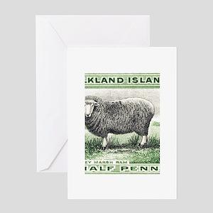 Falkland Islands Ram Postage Stamp Greeting Cards