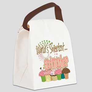 Sweetest godmother copy Canvas Lunch Bag