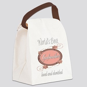 cherished pink godmother copy Canvas Lunch Bag