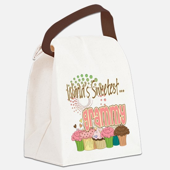 Sweetest grammy copy.png Canvas Lunch Bag
