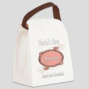 cherished pink grammy copy Canvas Lunch Bag