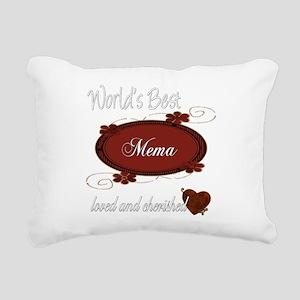 cherished mema copy Rectangular Canvas Pillow