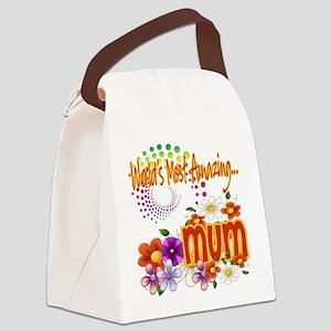 Amazing mum copy Canvas Lunch Bag