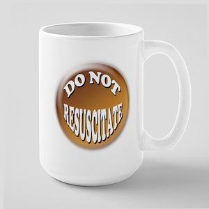 Do not Resuscitate Pink Heart Large Mug