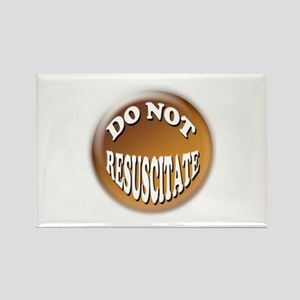Do not Resuscitate Pink Heart Rectangle Magnet (10