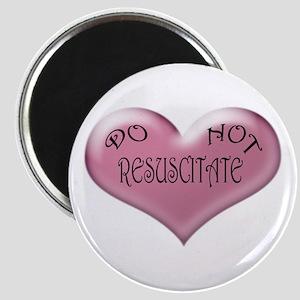Do not Resuscitate Pink Heart Magnet