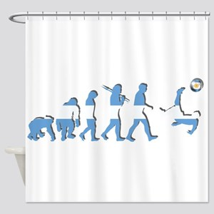 Argentinia Soccer Evolution Shower Curtain