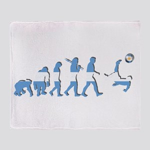 Argentinia Soccer Evolution Throw Blanket