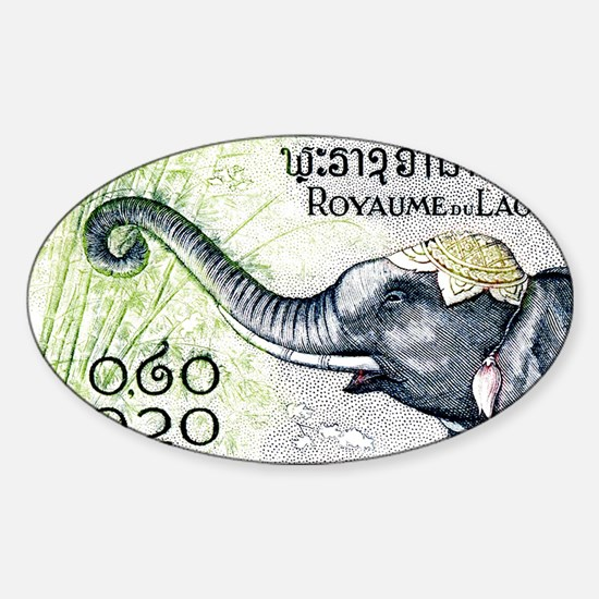 Cute Laos Sticker (Oval)