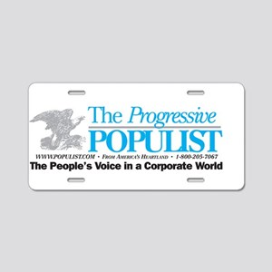 Progressive Populist Aluminum License Plate