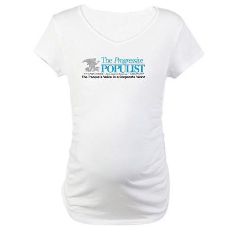 Progressive Populist Maternity T-Shirt