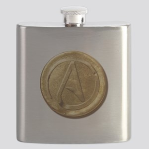 Atheist Gold Coin Flask