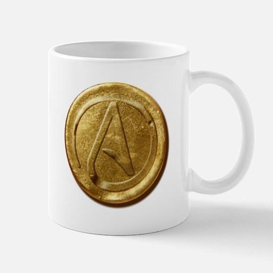 Atheist Gold Coin Mug