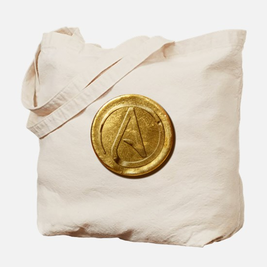 Atheist Gold Coin Tote Bag