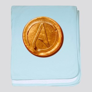 Atheist Gold Coin baby blanket