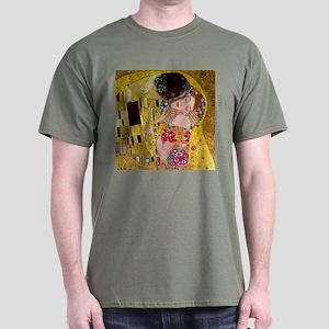 Gustav Klimt The Kiss Dark T-Shirt