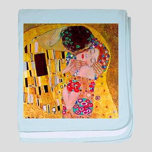 Gustav Klimt The Kiss baby blanket