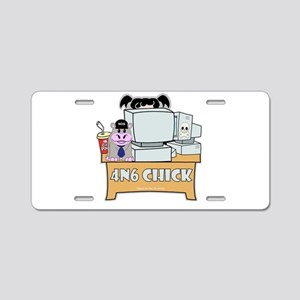 Forensics Chick Aluminum License Plate