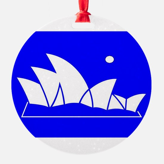 Sydney Opera House with Full Moon/ Sun Ornament