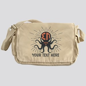 Sigma Pi Octopus Personalized Messenger Bag
