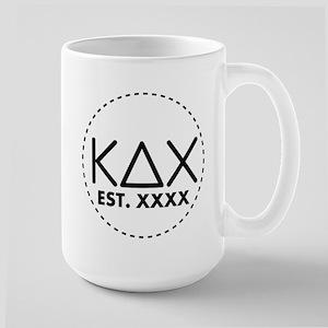 Kappa Delta Chi Circle 15 oz Ceramic Large Mug