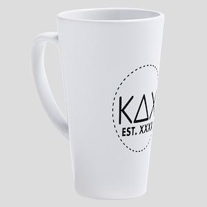 Kappa Delta Chi Circle 17 oz Latte Mug