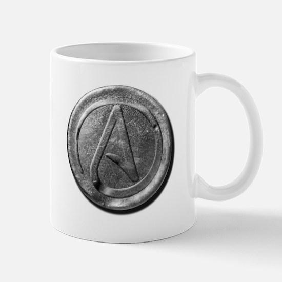 Atheist Silver Coin Mug