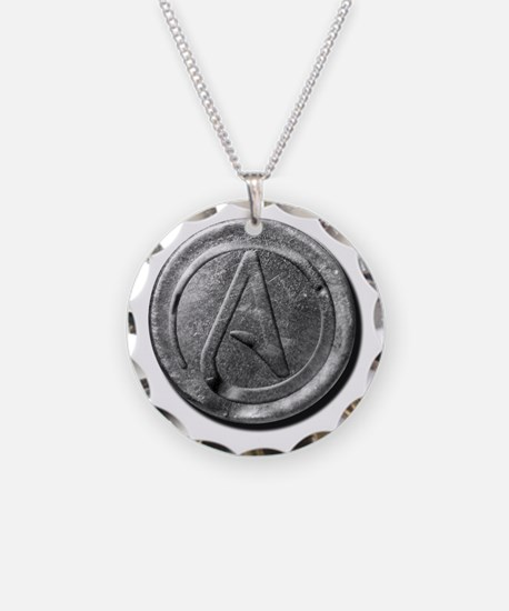 Atheist symbol jewelry atheist symbol designs on jewelry cheap atheist silver coin necklace aloadofball Gallery