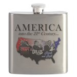 21st Century America Flask