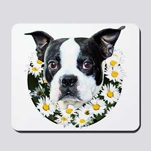 Terrier in daisies Mousepad