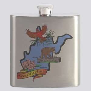 West Virginia (2) Flask