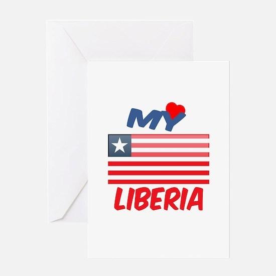My Love Liberia Greeting Card