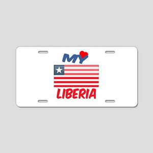 My Love Liberia Aluminum License Plate
