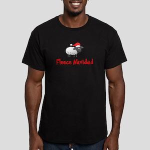 Fleece Navidad Men's Fitted T-Shirt (dark)
