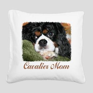 Cavalier Mom Square Canvas Pillow