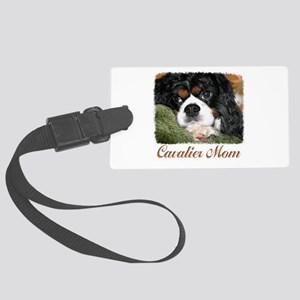 Cavalier Mom Large Luggage Tag