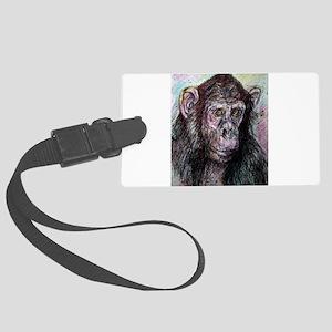 Chimpanzee! Wildlife art! Large Luggage Tag