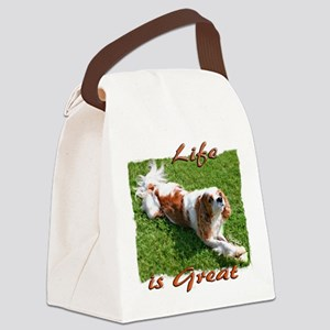 Cavalier Life is Great Canvas Lunch Bag