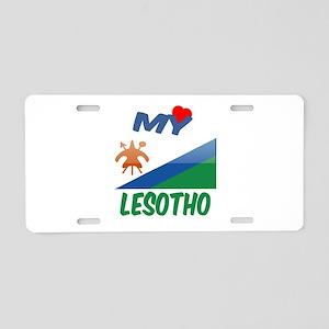 My Love Lesotho Aluminum License Plate