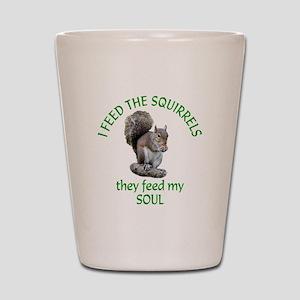 Squirrel Feeder Shot Glass