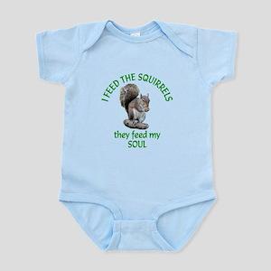 Squirrel Feeder Infant Bodysuit