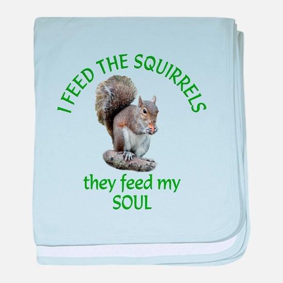 Squirrel Feeder baby blanket