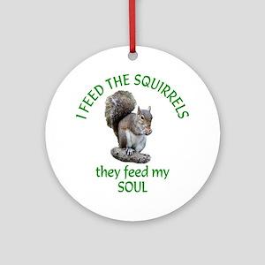 Squirrel Feeder Ornament (Round)