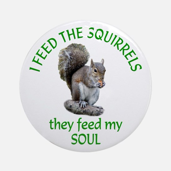 Squirrel Feeder Ornament (Round)