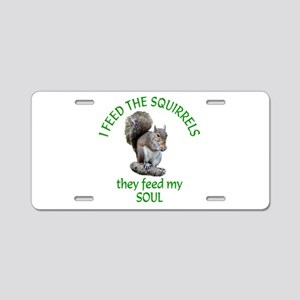 Squirrel Feeder Aluminum License Plate