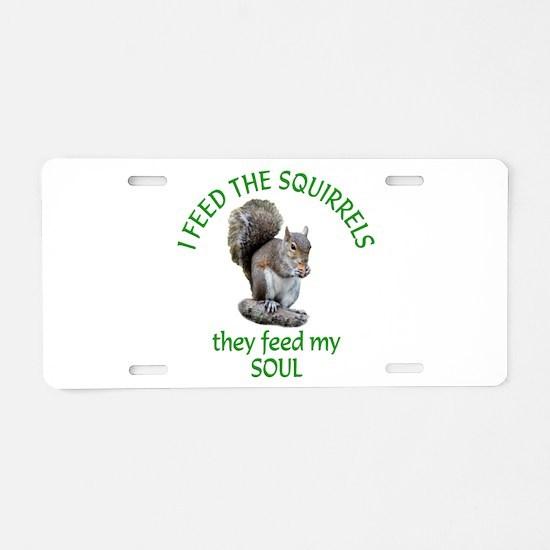 Squirrel Feeder Aluminum License Plate