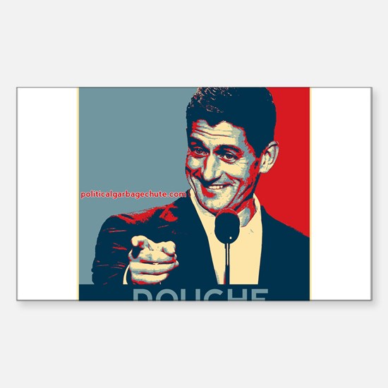 "Paul Ryan - ""Douche"" Sticker (Rectangle)"
